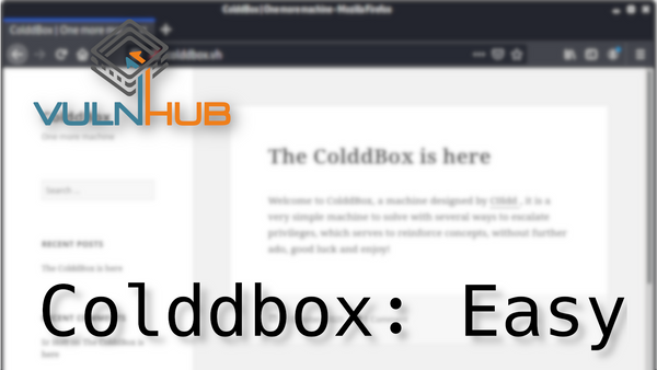 Hacking Homework: VulnHub/Colddbox-Easy